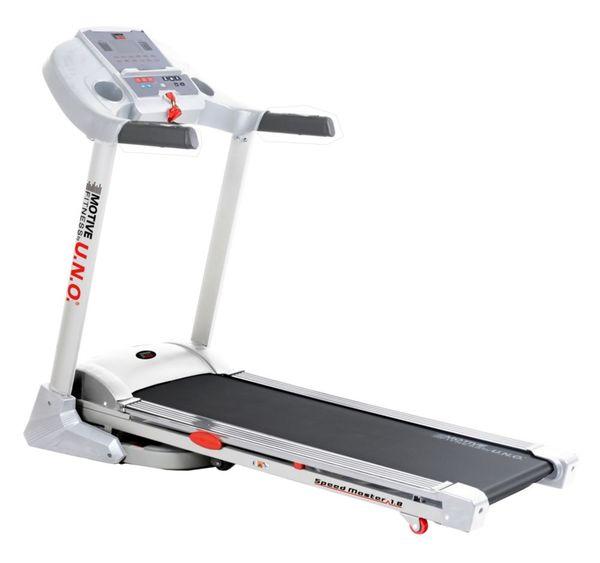 Motive Fitness by U.N.O. Laufband Speed Master 1.8 weiß-silber