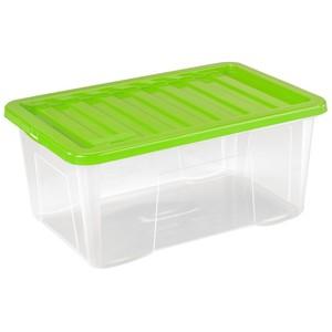 Aufbewahrungsbox 50 Liter mit Klickdeckel in drei Farben