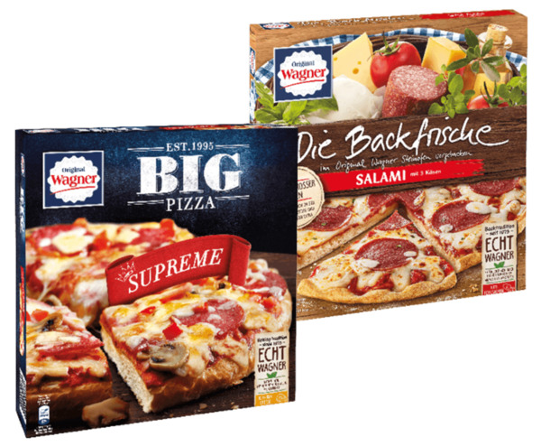 Original Wagner Big Pizza oder Die Backfrische Pizza