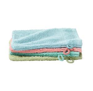 Home Waschhandschuh mit Bordüre, ca. 16x21cm, 2er Pack