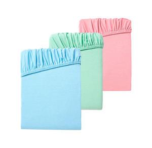 Home Jersey-Spannbetttuch in verschiedenen frischen Farben, ca. 90-100x200cm