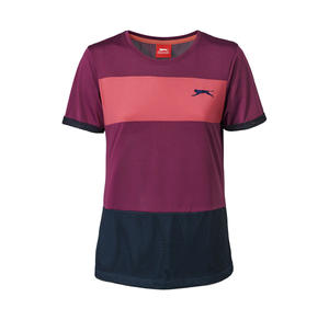 Slazenger Damen-T-Shirt mit sportlichen Kontrast-Streifen
