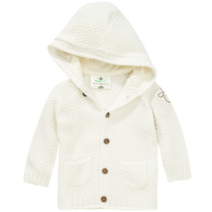 Newborn Strickjacke mit Schaf-Applikation