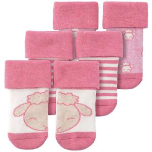 3 Paar Newborn Socken mit Schaf-Motiv