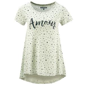 Damen T-Shirt mit Schriftzug-Print