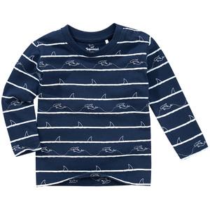 Baby Langarmshirt mit Hai-Motiven