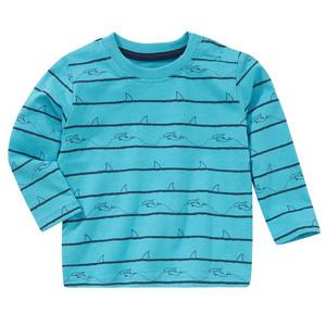 Baby Langarmshirt mit Hai-Print