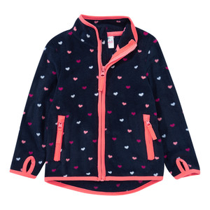Baby Fleecejacke mit Herz-Allover