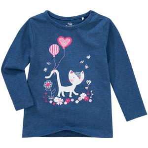 Baby Langarmshirt mit Katzen-Motiv