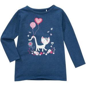 Mädchen Langarmshirt mit Katzen-Motiv