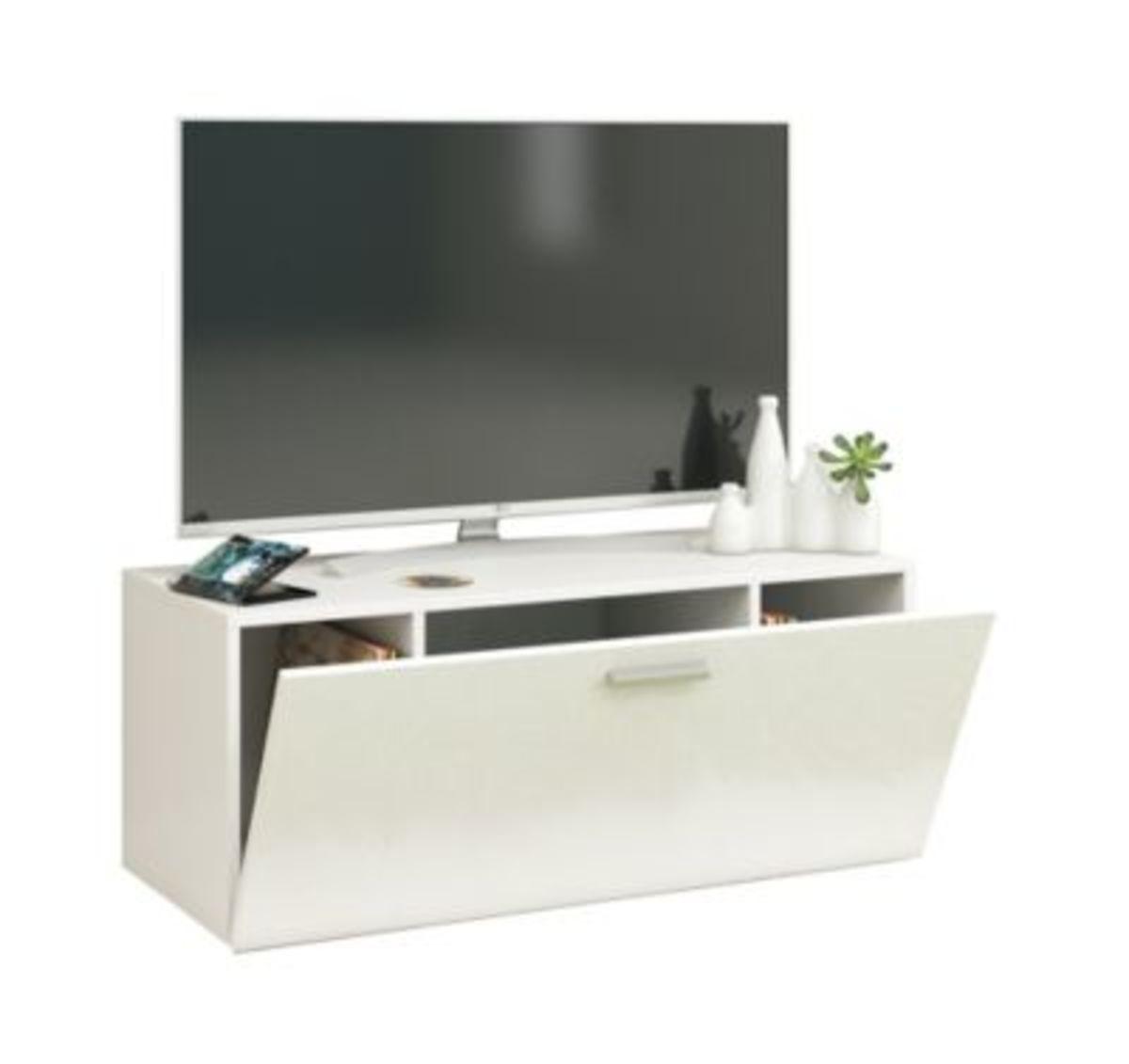 """Bild 1 von VCM TV Wand Board Fernsehtisch Lowboard Wohnwand Regal Wandschrank Schrank Tisch Hängend """"Fernso"""" VCM TV-Wand-Lowboard """"Fernso"""" (Farbe: B. 95cm: Weiß)"""