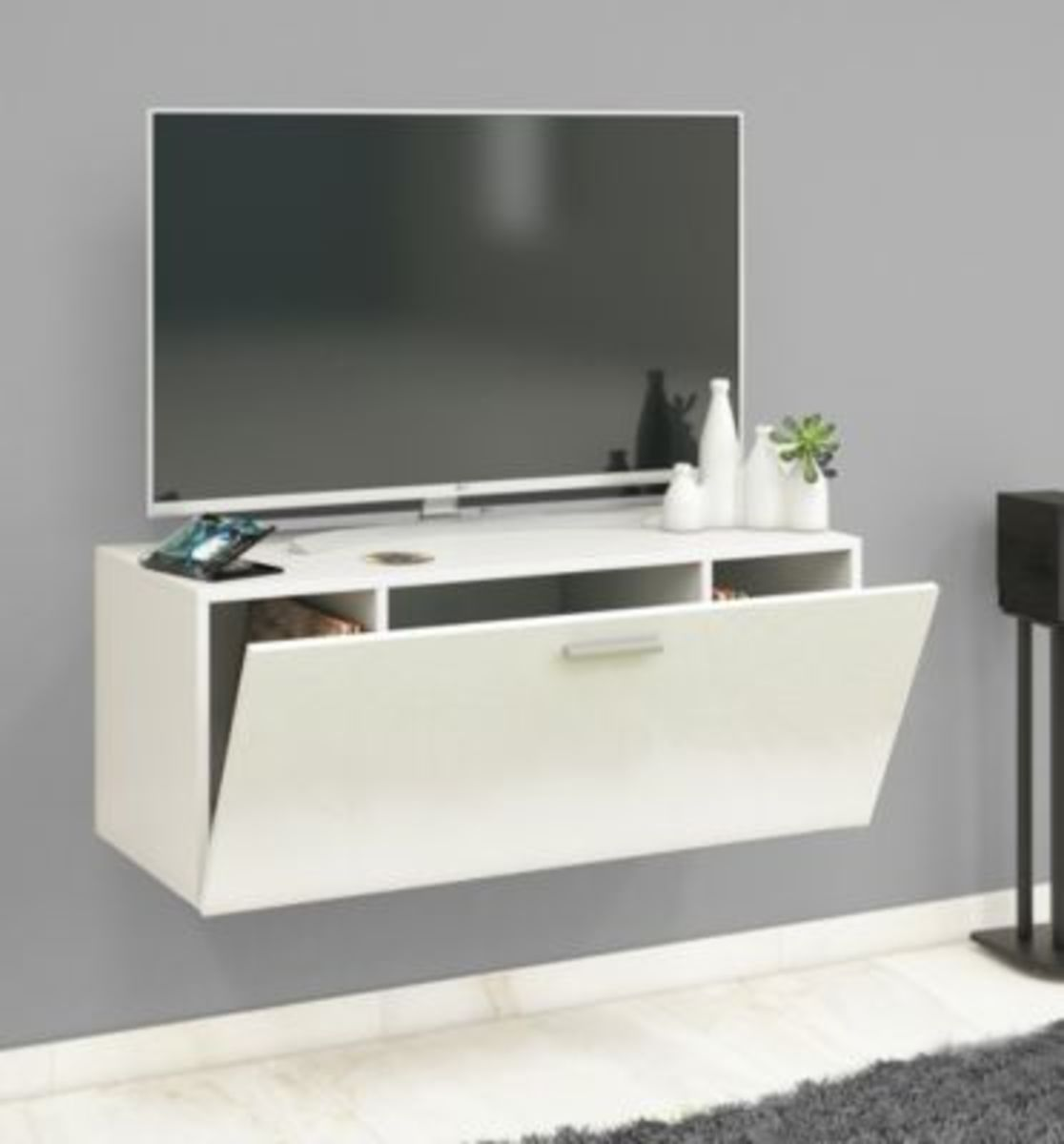"""Bild 2 von VCM TV Wand Board Fernsehtisch Lowboard Wohnwand Regal Wandschrank Schrank Tisch Hängend """"Fernso"""" VCM TV-Wand-Lowboard """"Fernso"""" (Farbe: B. 95cm: Weiß)"""