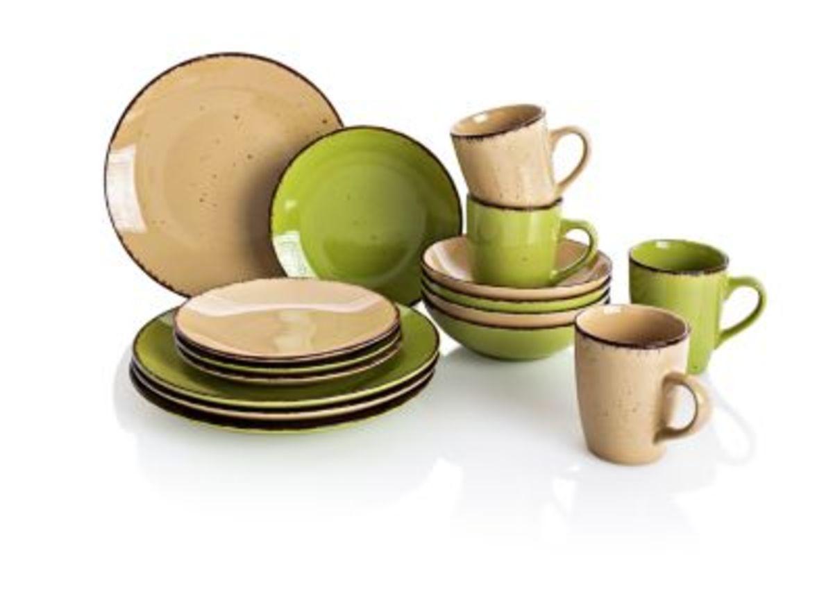 Bild 1 von Kaffee- und Tafelservice Puro, grün 16tlg.