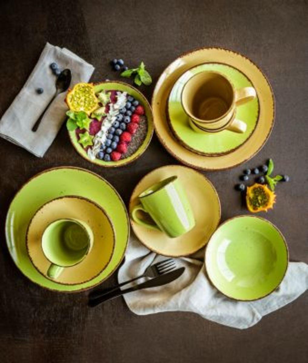 Bild 2 von Kaffee- und Tafelservice Puro, grün 16tlg.