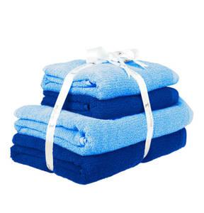 Möve             2 Handtücher & 2 Duschtücher, 4-tlg. Set, reine Baumwolle