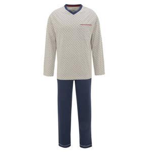 Rover & Lakes             Schlafanzug, reine Baumwolle, Brusttasche, Gummibund