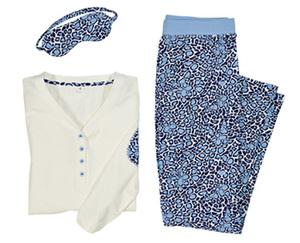 Skin to Skin Pyjama mit Schlafmaske