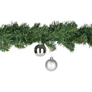 Weihnachtskugeln 5 cm, 8er-Pack silber