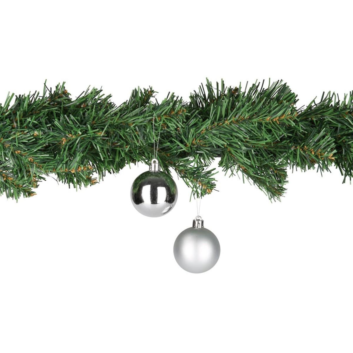 Bild 1 von Weihnachtskugeln 5 cm, 8er-Pack silber