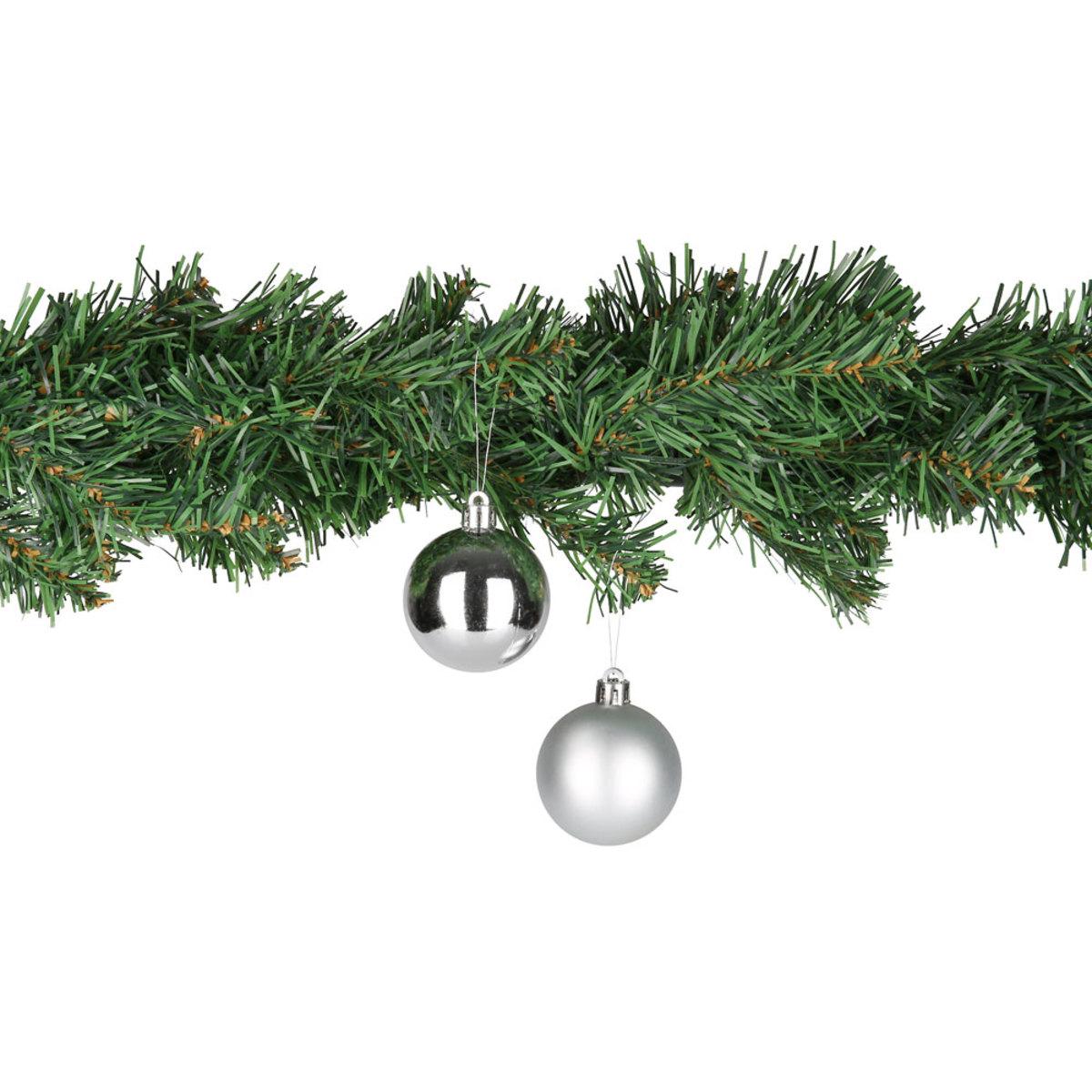 Bild 3 von Weihnachtskugeln 5 cm, 8er-Pack silber