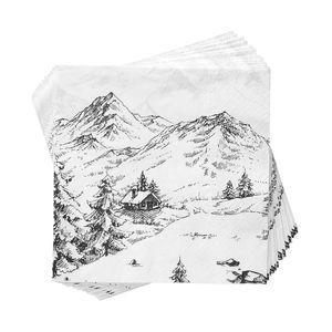 Papierserviette Alpen