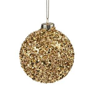 Weihnachtskugel Perlen 8 cm