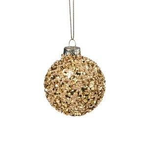 Weihnachtskugel Perlen 6 cm