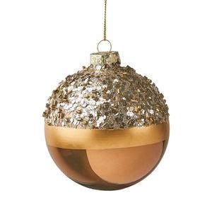 Weihnachtskugel Glitter Ø 8 cm