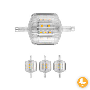 LIGHTME LED-Leuchtmittel, R7s Sockel, 240°, 5 W, 400 lm, Warmweiß - 4er Set