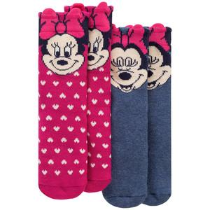 2 Paar Minnie Maus Socken im Set