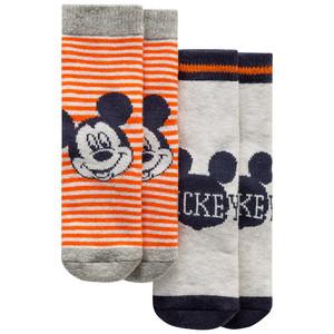 2 Paar Micky Maus Socken mit ABS-Noppen