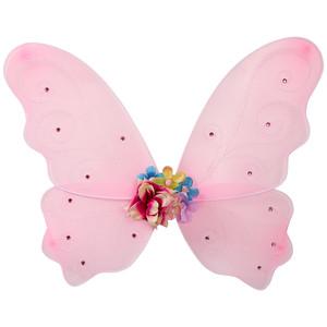 Flügel mit Blümchen-Applikation