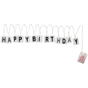 LED-Lichterkette Happy Birthday