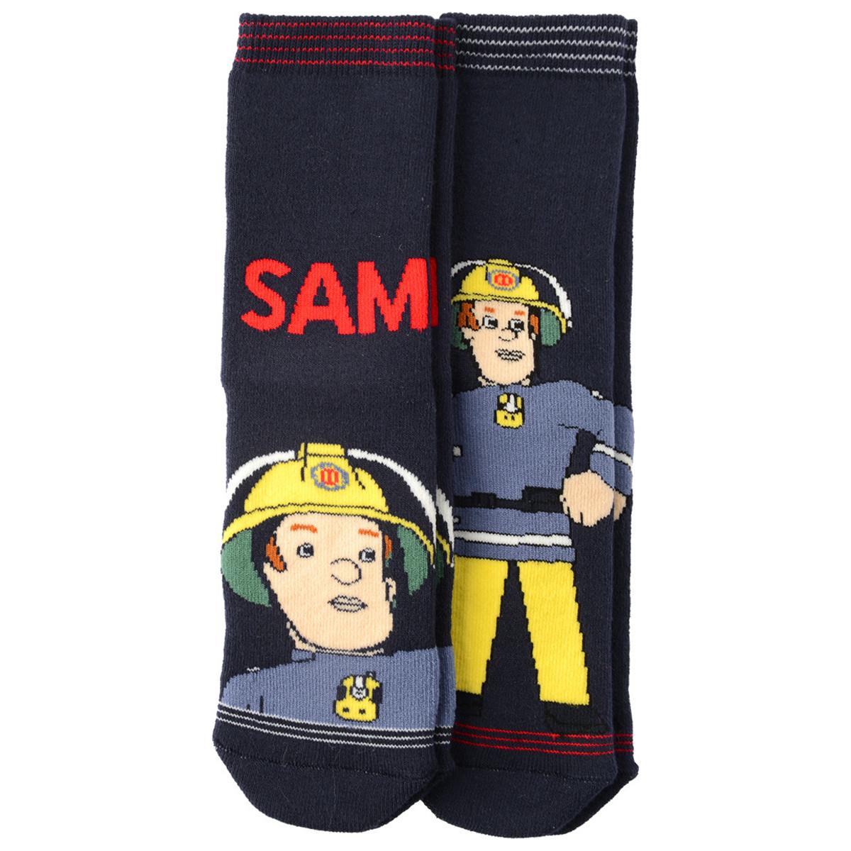 Bild 1 von 2 Paar Feuerwehrmann Sam Stoppersocken