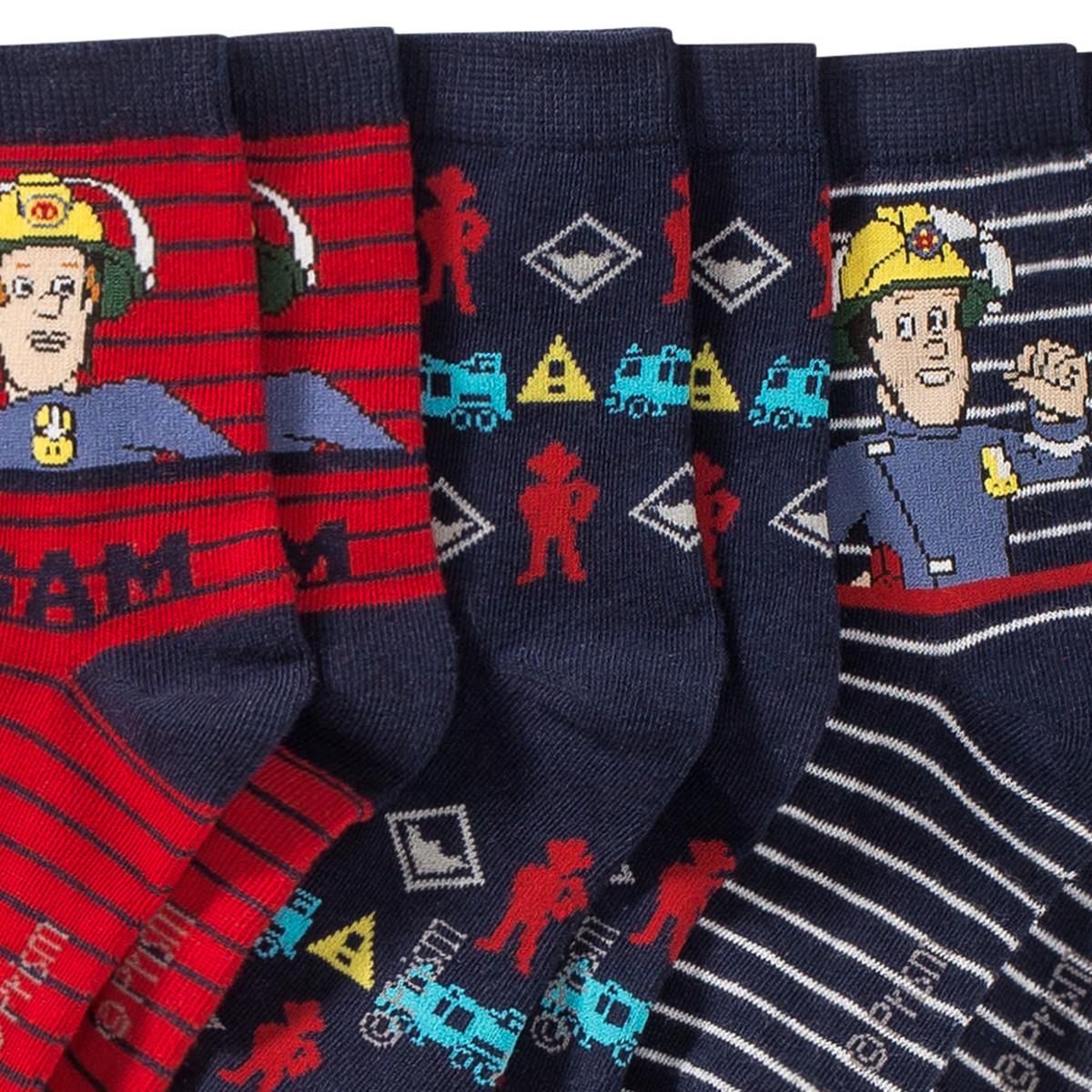 Bild 2 von 3 Paar Feuerwehrmann Sam Socken