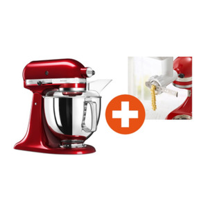 KitchenAid ARTISAN Küchenmaschine 300W 4,8L liebesapfelrot + Cookie Set