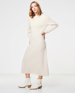 Midi Strickkleid aus reiner Wolle