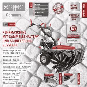 Scheppach Kehrmaschine SC2200PE