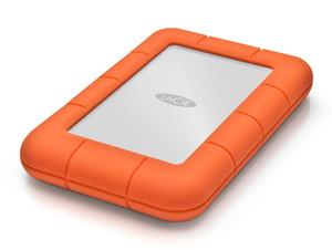 LaCie Rugged Mini, 4TB ext. 6,35 cm Festplatte, USB 3.0, silber-orange
