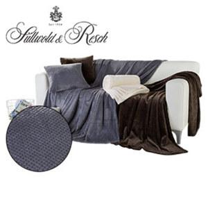 Decke mit Jacquard-Effekt traumhaft weiche Qualität mit hochwertiger Struktur, 150 x 200 cm, Dekokissen 50 x 50 cm je 9,99 €