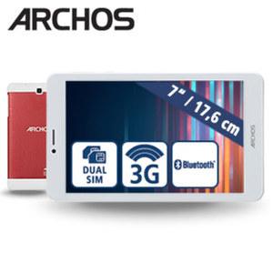 Tablet Core 70 3G · Quad-Core-Prozessor (bis zu 1,3 GHz) · 2 Kameras (0,3 MP/2 MP) · microSD™-Slot bis zu 32 GB · Android™ 7.0