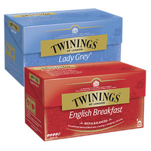 Twinings Tea Earl Grey, Lady Grey oder English Breakfast jede 25er= 50-g-Aufgußbeutel-Packung