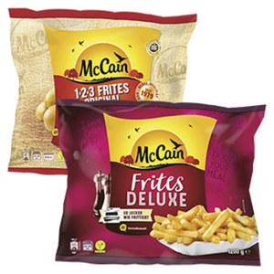 McCain 1-2-3 Frites 1500 g  oder Deluxe 1200 g, gefroren,  jeder Beutel und weitere Sorten