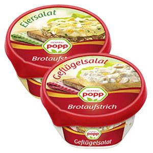 Popp Brotaufstrich versch. Sorten,  150-g-Packung, ab 2 Packungen je