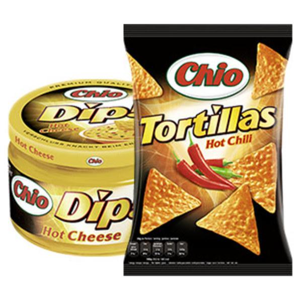 Chio Tortilla Chips oder Chio Dip versch. Sorten,  jeder 125-g- Beutel/jedes 200-ml-Glas