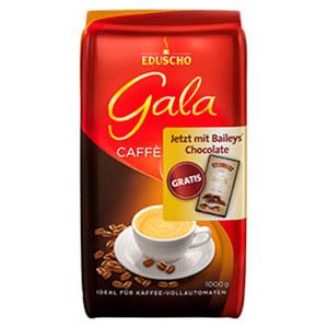 Eduscho Gala Bohne + gratis Baileys Schokolade 90g versch. Sorten, jede 1000-g-Promotion-Packung