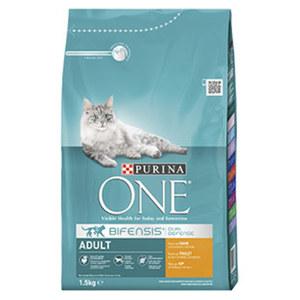 Purina One Katzen-Trockennahrung versch. Sorten, jede 1,5-kg-Packung