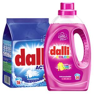dalli Fein- und Vollwaschmittel 14/18/16/20 Waschladungen, versch. Sorten jede Packung/Flasche