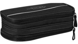 PAPERZONE Stiftebox schwarz mit 2 Zips