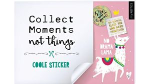 myNOTES Collect Moments not things - Stickerheft Lama